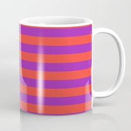 Even Horizontal Stripes, Red and Purple, M Coffee Mug