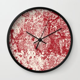 RED GRUNGE Abstract Art Wall Clock