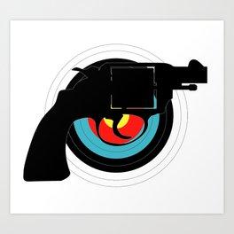 Hand Gun Target Art Print