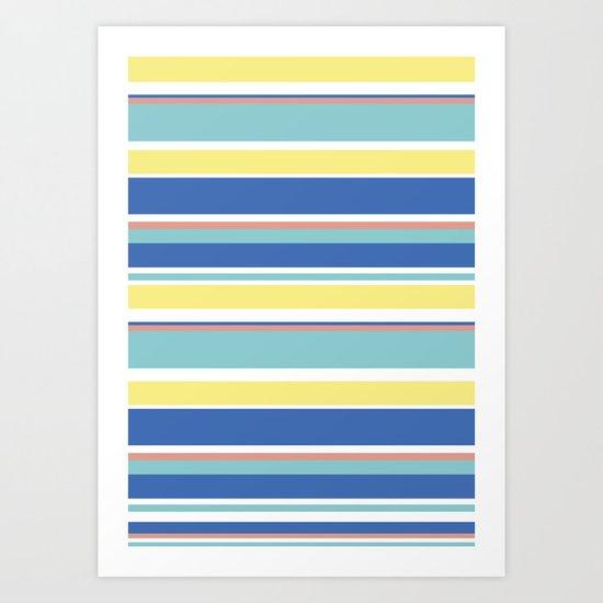 The Summer Stripes Art Print