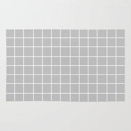 Grid (White/Silver) Rug