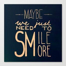 Smile More Canvas Print