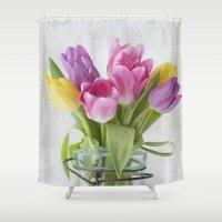 Tulips in a Jar Shower Curtain