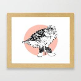Bird in Shoes Framed Art Print