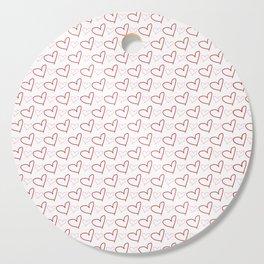 Handrawn Heart Cutting Board