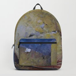 Clock Time with leaf Illustration Backpack
