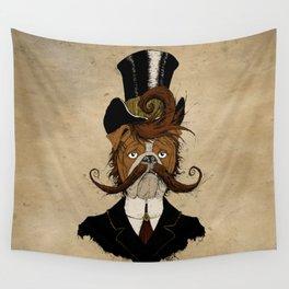 Fine Victorian Bulldog Wall Tapestry