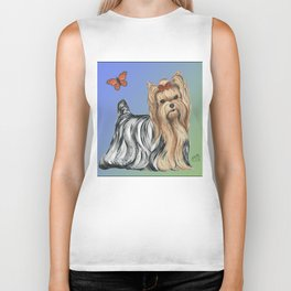 Yorkshire Terrier - Yorkie- by Nina Lyman of Dogs By Nina Biker Tank