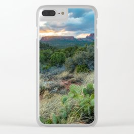 Southwest Serenade - Sunset at Sedona Arizona Clear iPhone Case