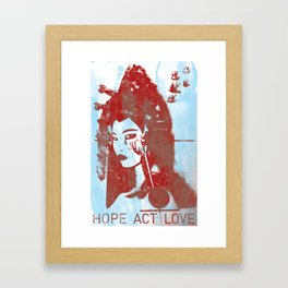 Hope, Act, Love Framed Art Print