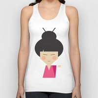 geisha Tank Tops featuring Geisha by Page 84 Design