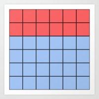 Red/Blue Pattern Art Print