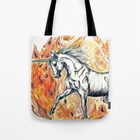 unicorn Tote Bags featuring Unicorn by Stephanie Stonato