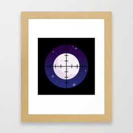 Aim for the Moon Framed Art Print