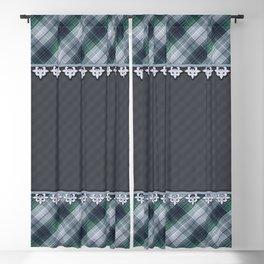 Blue plaid, plaid blanket, gray pattern, patchwork, folklore,  rustic style, elegant pattern, plaid Blackout Curtain