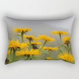 Yellow Flowers in the Alps Rectangular Pillow