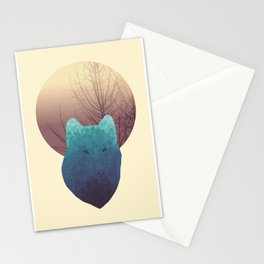 Polygon Wolf Stationery Cards