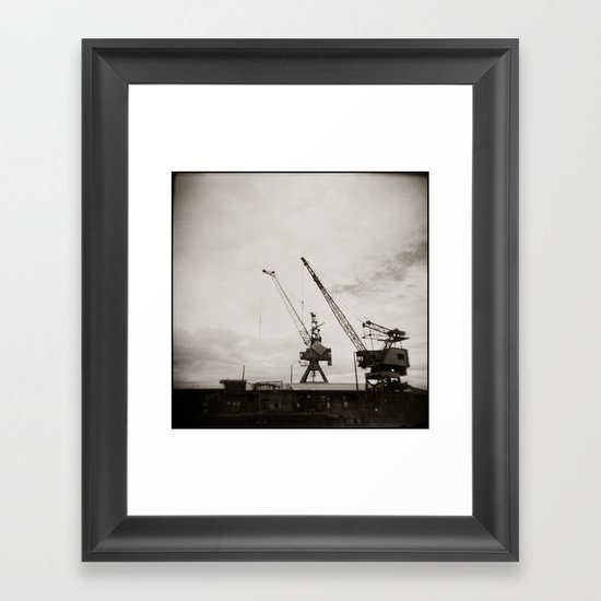 { dancing cranes } Framed Art Print