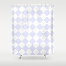 HARLEQUIN (LAVENDER & WHITE) Shower Curtain