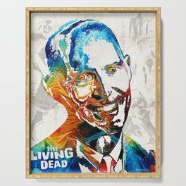 Zombie Art - The Living Dead - Halloween Fun Serving Tray