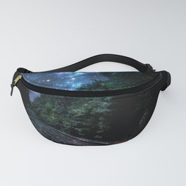 Train Tracks : Next Stop Anywhere Blue Side View Fanny Pack