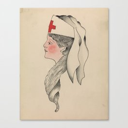 Tattoo Design of an Army Nurse Clark & Sellers Canvas Print