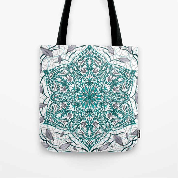 Woven Vines of Silver and Life Tote Bag