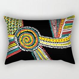 Rasta Swirls Rectangular Pillow