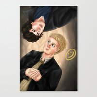 johnlock Canvas Prints featuring Johnlock by Vii Victory