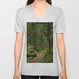 The Deep Woodland  Path... Unisex V-Neck