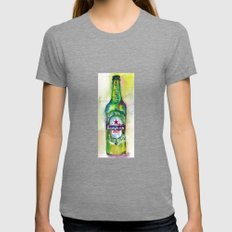 Heineken Beer, Happy Friday Womens Fitted Tee Tri-Grey SMALL