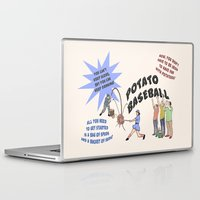 potato Laptop & iPad Skins featuring Potato Baseball by Gas Station Burrito
