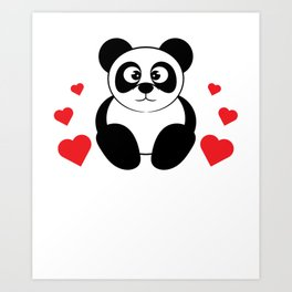 The cute & lovely Panda Tee for a panda lover, pet lover & animal lovers Life is better with a Panda Art Print