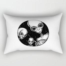 After an abduction - adventures with aliens Rectangular Pillow