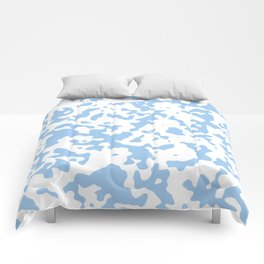 Spots - White and Baby Blue Comforters