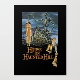 House On Haunted Hill, 1959 Campy Horror Movie Canvas Print