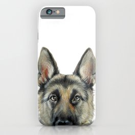 German Shepard Original painting by Miart Print iPhone Case