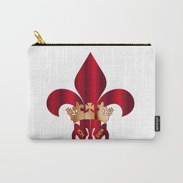 Fleur de Lis Symbol Carry-All Pouch