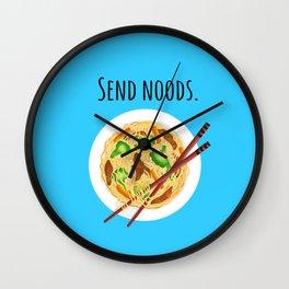 Send noods. Chow mein noodle art. Wall Clock