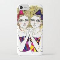gemini iPhone & iPod Cases featuring Gemini by D.U.R.A
