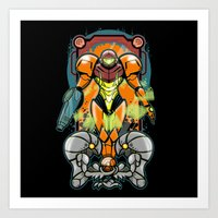samus Art Prints featuring Samus by Brandon C. Bader