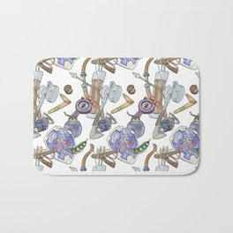 Ocarina Patterns Bath Mat