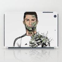ronaldo iPad Cases featuring Football Legends Cristiano Ronaldo Real Madrid Robot by Akyanyme