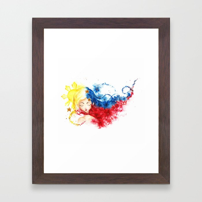 Lady Filipino Framed Art Print