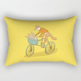 FOX ON BIKE Rectangular Pillow