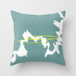 Let it flow #abstract #minimal #painting #lineart Throw Pillow