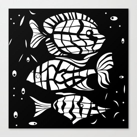 Fish . Zodiac sign Canvas Print