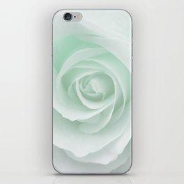 White Rose Minimalism | Mint iPhone Skin