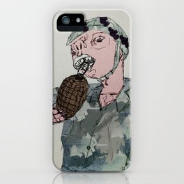 This is War by Debbie Porter - Designs of an Eclectique Heart iPhone Case