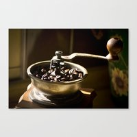coffe Canvas Prints featuring Coffe Grinder by Maria Moreno